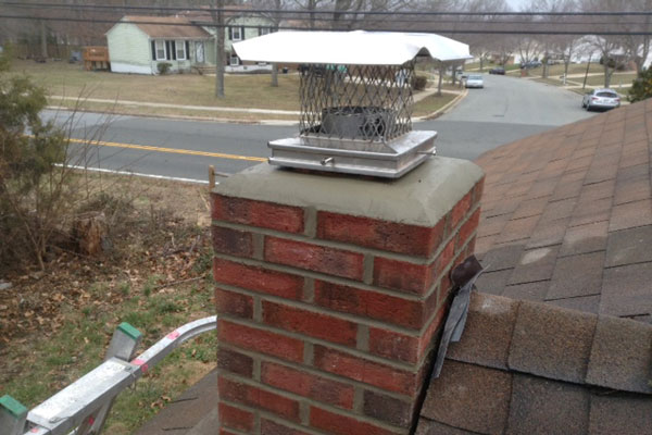 problems with water seeping through on a chimney wall