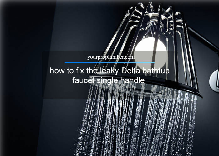 How To Fix The Leaky Delta Bathtub Faucet Single Handle