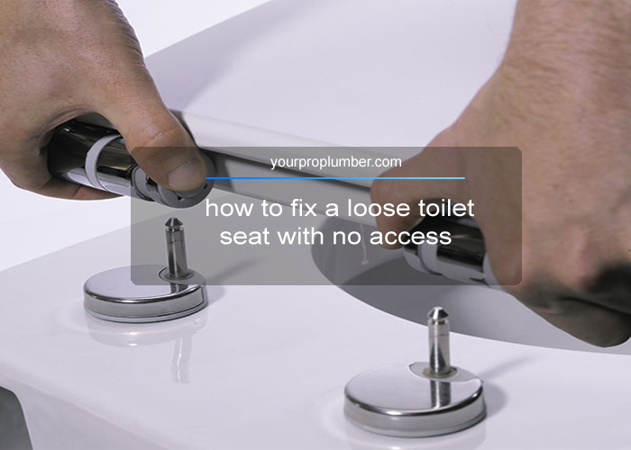how to fix a loose toilet seat with no access