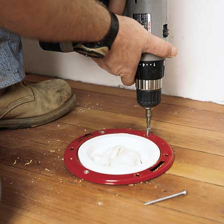 install a toilet flange yourself